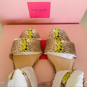 Kate Spade Lucia Snakeskin Look Sandals